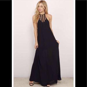 Tobi, Gorgeous BLACK HALTER MAXI DRESS